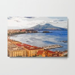 Italy. The Bay of Napoli Metal Print