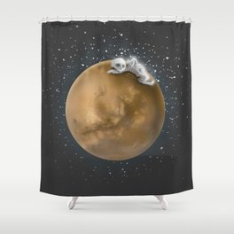 Lost in a Space / Marsporror Shower Curtain