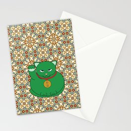 Paws Up For Lucky Green Stationery Cards