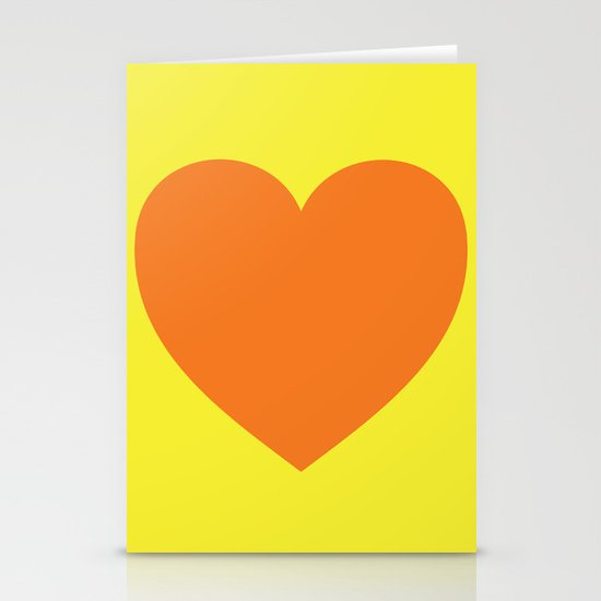 Pop Art Heart Stationery Cards