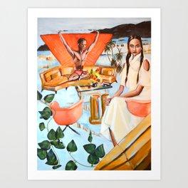 Outdoor living room Art Print