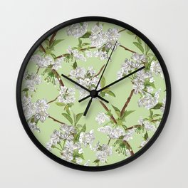 Early Blossom Wall Clock