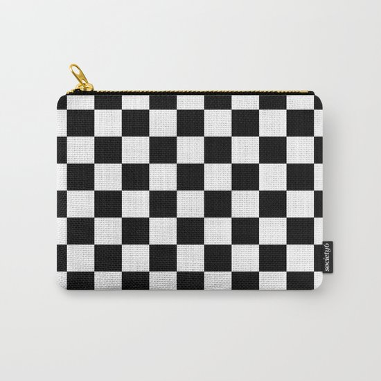 Checker (Black/White) Carry-All Pouch