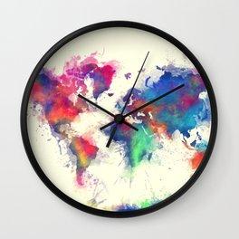 world map 105 #worldmap #map Wall Clock