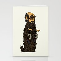 beard Stationery Cards featuring Beard by George Azmy