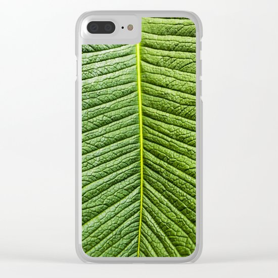 Leaf texture Clear iPhone Case