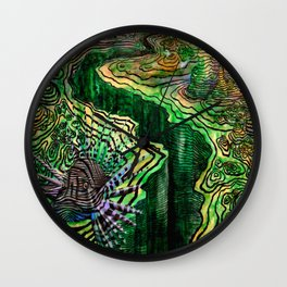 Topography of Ocean's Chasms  Wall Clock