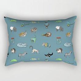 Animal alphabeth blue Rectangular Pillow