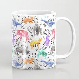 Endangered Animals Watercolor Pattern Coffee Mug