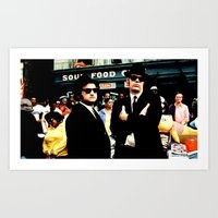 blues brothers Art Prints featuring The Blues Brothers by Gabriel T Toro