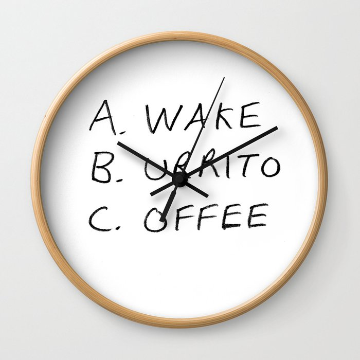 Breakfast Coffee ABC Wall Clock