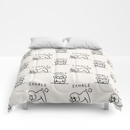 Inhale Exhale Toy Poodle Comforters