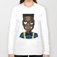 nerd Long Sleeve T-shirts featuring Nerd by DeMoose_Art