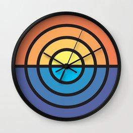 Stripe Sunset Wall Clock