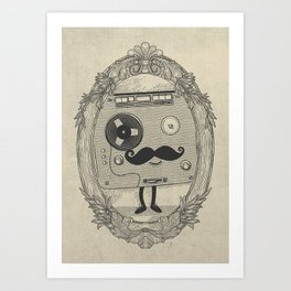 Old Time Story Art Print