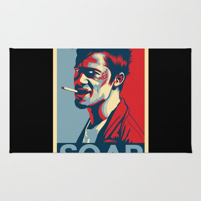 """Tyler Durden """"Hope"""" Poster Rug"""