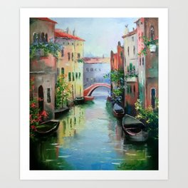 Street Venice Art Print