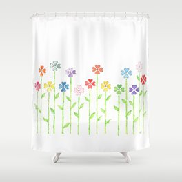 Inch by Inch, Row by Row Shower Curtain