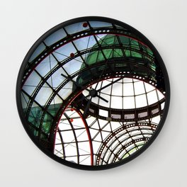 Domed Roof in Colour Wall Clock
