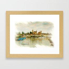 Rapperswil Cityscape Framed Art Print