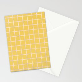 MINIMAL GRID YELLOW Stationery Cards