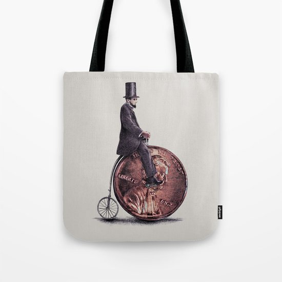 Penny Farthing (grey option) Tote Bag