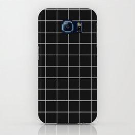 Grid Line Stripe Black and White Minimalist Geometric iPhone Case