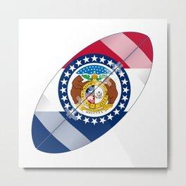 Missouri State USA Football Flag Metal Print