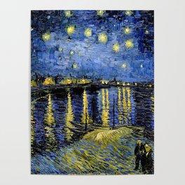Van Gogh Starry Night Over the Rhône Poster