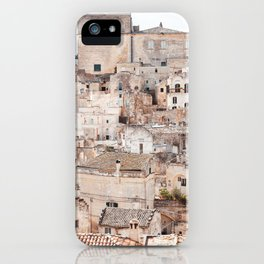 City of Matera in Italy iPhone Case