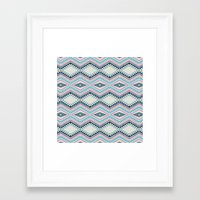 totem Framed Art Prints featuring totem by spinL