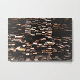 wooden board pattern texture Metal Print