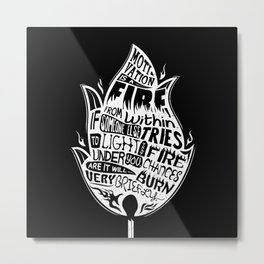 Lab No. 4 Chances Will Burn Very Briefly Stephen R. Covey Motivational Quotes Metal Print