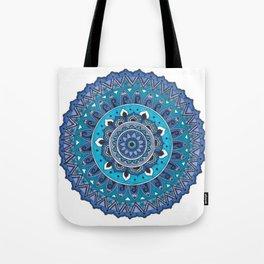 Blue Mandala Art Tote Bag