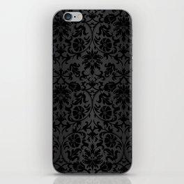 Black Damask Pattern Design iPhone Skin