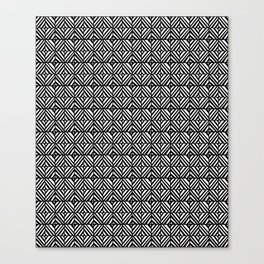 symetric tartan and gingham 5 -vichy, gingham,strip,square,geometric, sober,tartan Canvas Print