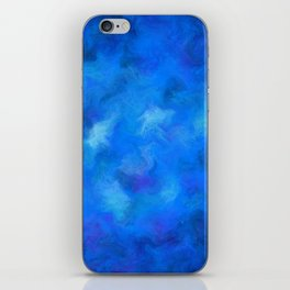 Denitamessa - deep blue world iPhone Skin