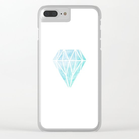 Diamond watercolour Clear iPhone Case