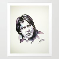 han solo Art Prints featuring Han Solo by Karina Fraser