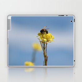 Honey bee on a wildflower Laptop & iPad Skin