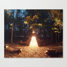 Light of the Teepee Canvas Print