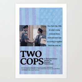 Two Cops Movie Poster Art Print