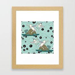 tortoise and the hare skater style Framed Art Print