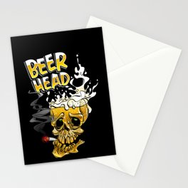 beer head Stationery Cards