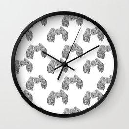 Flying Great Grey Owl pattern Wall Clock