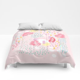 Organic Nature - Colourful Doodle Pattern 4 Comforters