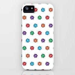 D20 multiple dice non-linear iPhone Case