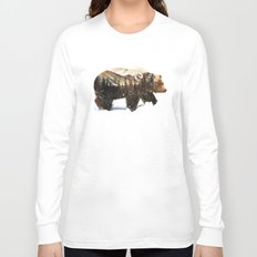 Arctic Grizzly Bear Long Sleeve T-shirt