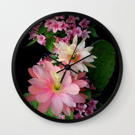 Cacti, Pink And Paler Wall Clock