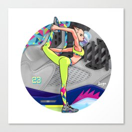 Yoga girl Cool Noodle and Jordan Fresh Prince Canvas Print